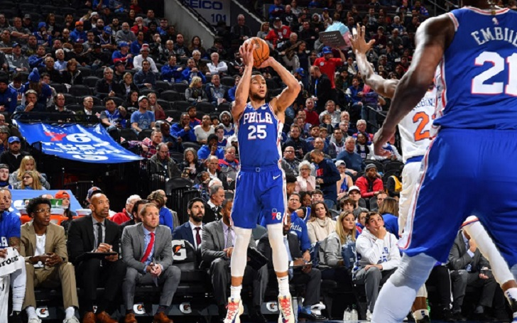 Ben Simmons Knocks down the first NBA 3-pointer of his Career