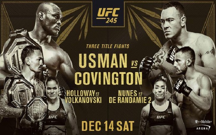 UFC 245 will Feature 3 Title Fights; Referees, judges