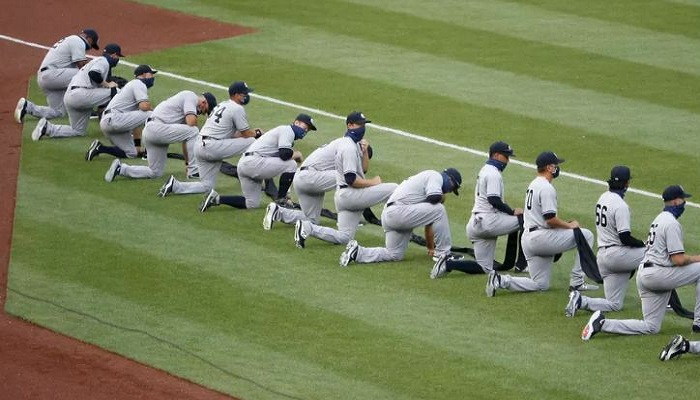 MLB Star Team Yankees Took A Knee Before National Anthem, Supporting BLM Movement On Opening Day